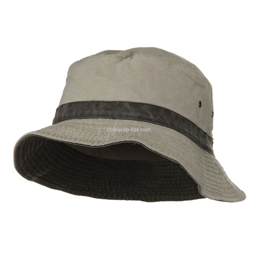 00eb5c0e351 Promotional Putty Black Pigment Dyed Twill Washed Bucket Hat ...