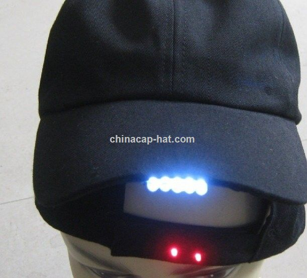 baseball cap with built in headphones radio embroidery clip lights