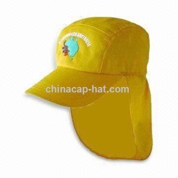 Yellow Baseball Cap with Velcro Back Closure