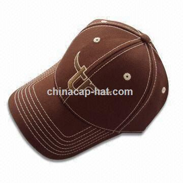 Red Baseball Cap with Heavy Wash Distressed Effect