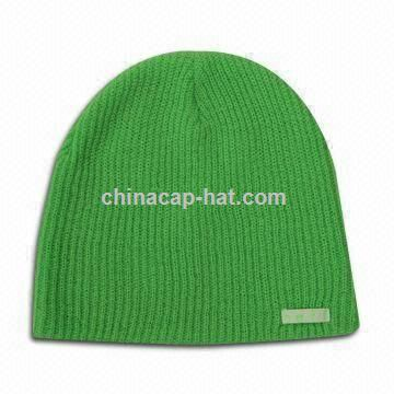 Knitted Beanie Hat with 3M Fluorescence Label