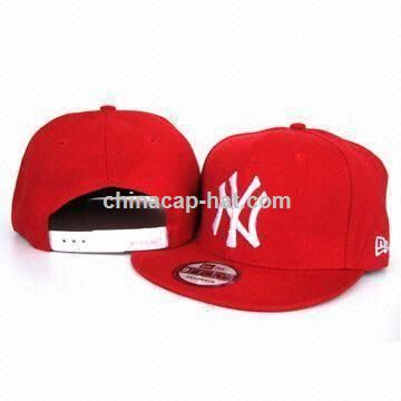 NY Red Baseball Hat with Fabric Lining