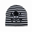 Beanie Knitted Hat with Skull Pattern
