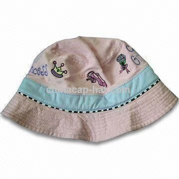 Girl,s Bucket Hat with Embroidery Pattern