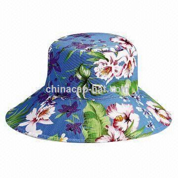 Reversible Bucket Hat with Wide Brim