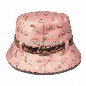 Ladies' Stylish Bucket Party,Casual Hat with Belt Band