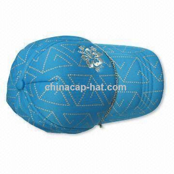 Geometric Cap with Front Lurex Embroidery