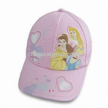 Girl's Princess Hat with Print on Front and Peak
