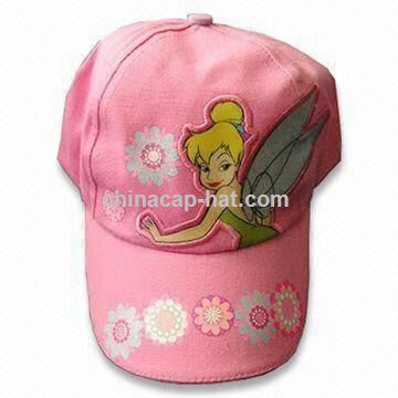Girls' Cap with Large PVC Patch and Velcro Closure on Back