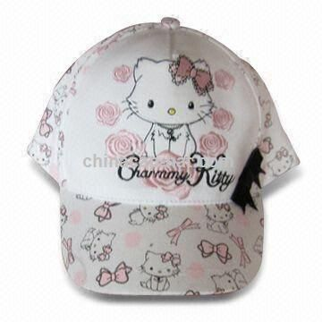 Girls Cap, Made of 100% Cotton