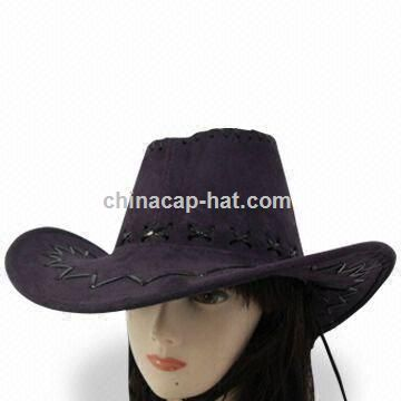 Raffia Cowboy Hat with Adjustable Strap
