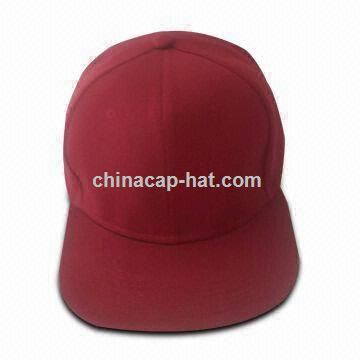 Red Custom-made Flat Brim Hat