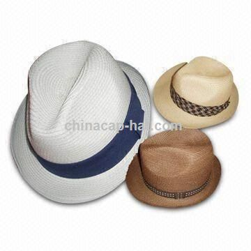 Straw Fedora Hat for Women and Men
