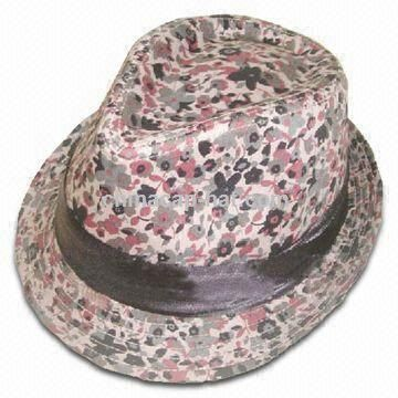 Stylish Trilby Fedora Hat in Camouflage Style