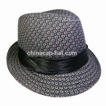 Womens Fedora Hat, Fashionable Floral Print