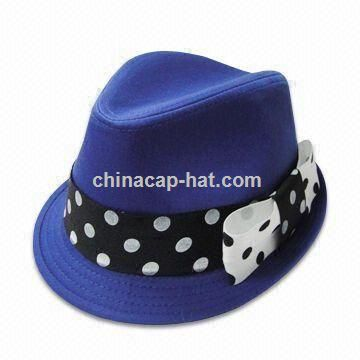 Womens Fedora Hat with Bowknot