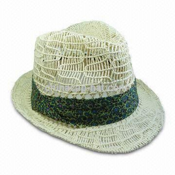 Womens Twisted Paper Straw Hat
