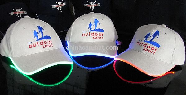 Albania LED cap,led flashing cap,led fiber optic cap