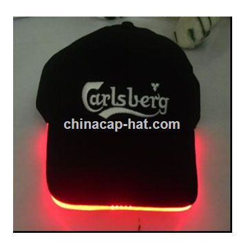 Angola LED cap,led flashing cap,led fiber optic cap