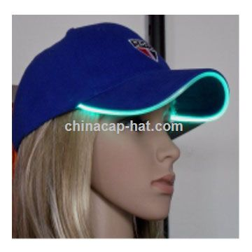 Anguilla LED cap,led flashing cap,led fiber optic cap