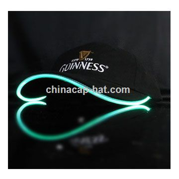 Armenia LED cap,led flashing cap,led fiber optic cap