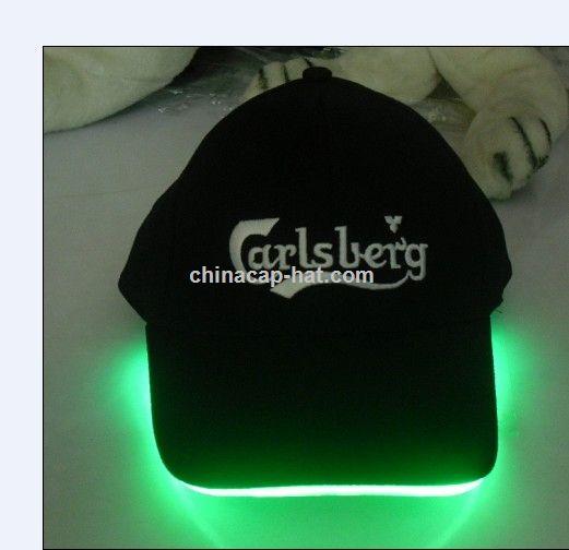 Australia LED cap,led flashing cap,led fiber optic cap
