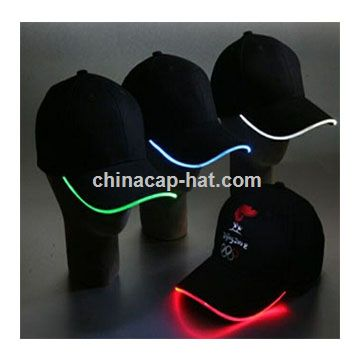 Wholesale LED cap,led flashing cap,led fiber optic cap