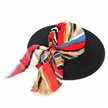 Fashion Paper Braid Floppy Hat with Bandana, Measures 57cm