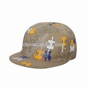 Flat Visor Cap, Metal Decoration in Front Panel