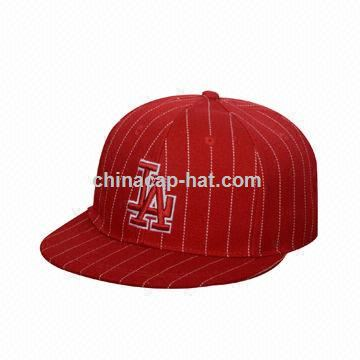 Flat visor cap, 3D embroidery on front