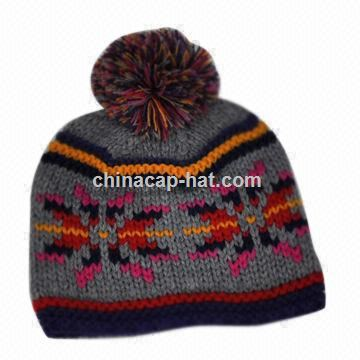 Knitted Hat for Children, Available in Various Colors and Designs