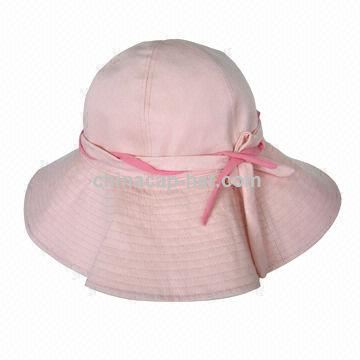 Light pink fishing hat, customized logos or designs are accepted