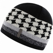 Mens Knitted Hat with Jacquard Pattern and Logo Label