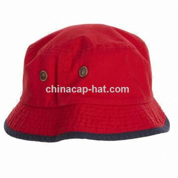Red 100 Cotton Washed Bucket Hat and Fishing Cap with Custom Logo