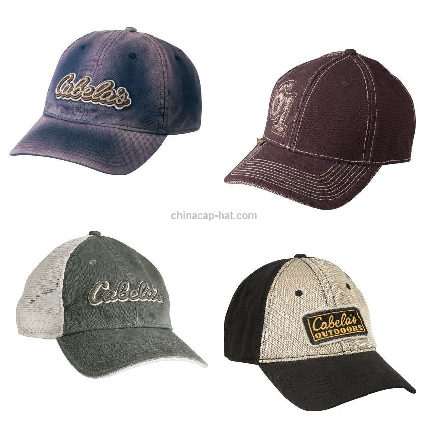 Cabelas Hats Caps: Promotional Newest Embroidery Design Hat Factory