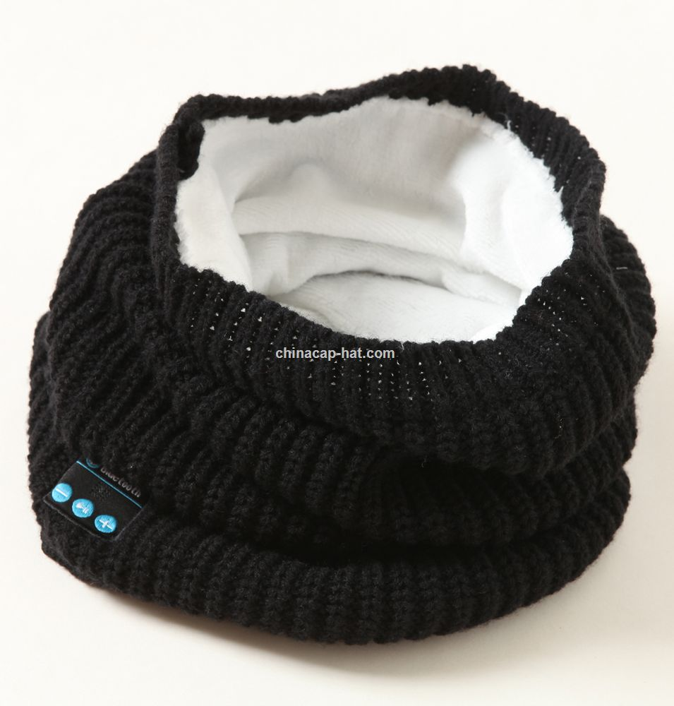 Knitted Bluetooth Scarf Wireless Bluetooth Smart Scarf Headphone Speaker Mic